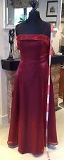 LADIES SIZE 10 DEEP RED EVENING DRESS FROM DEBUT DEBENHAMS.
