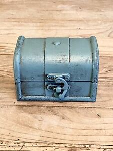Painted Rustic Wood Trinket Box