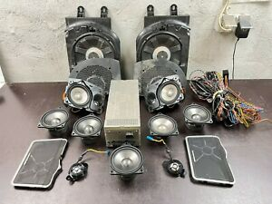BMW OEM E65 LCI Logic 7 Top HiFi L7 Speakers Covers Amplifier Subwoofers Cables