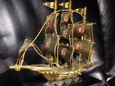 "Sailing Ship Boat Portugal Brass 6"" Tall Figure"