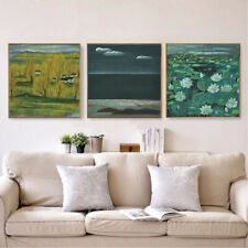 Lotus Flower Oil Painting Canvas Prints Poster Retro Picture Wall Art Home Decor