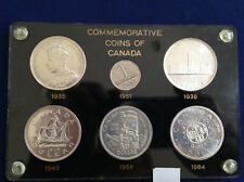 1935-1964 Canada Silver Dollar Commemorative 5 Coin Collection in Capital E4630