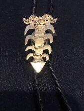 """Mma ~ Pre-Columbian ~ """"Man Figurine"""" Pin/Pendant/Bolo.Gold Finish"""