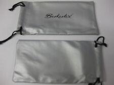 2 x BERKERTEX GLASSES SUNGLASSES SPECTACLES CASE BAG POUCH DRAWSTRING WALLET