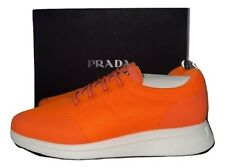 Prada Mens' Orange and White Sneakers Size 9.5