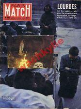 Paris Match n°462 du 15/02/1958 Lourdes Bernadette Bikbachi Syrie Bubsy