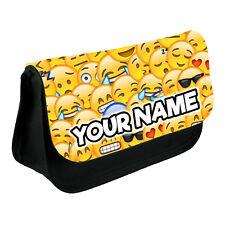 Personalised Emoji Pencil Case Boys Girls Make Up Bag School Kids Custom New