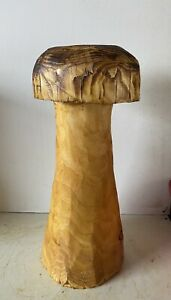 Chainsaw Carved Mushroom  Ornament  Fairy Garden Wooden Carvings Stool Seat