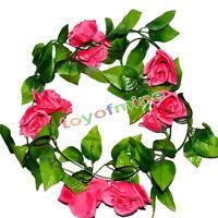 Artificial Fake Silk Rose Flower Ivy Vine Hanging Garland Wedding Home Decor New
