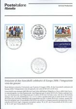 ITALIE 2006 INTÉGRATION GIOVANI BULLETIN COMPLET DE TIMBRES FDC