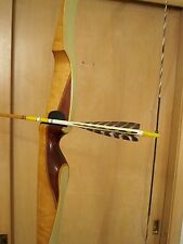 """Vintage Stag Horn Archery Company RH Recurve Bow/String 42 lbs. 67"""" Merrill, WI"""