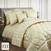 Luxury Cocoon Geometric Shimmering Gold Duvet Covers Throws & Curtains Bedding