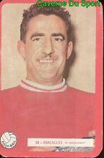 015 PIERRE BARLAGUET NIMES OLYMPIQUE FOOTBALL CARTE MIROIR SPRINT 1960's RARE