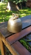 Antique dome shaped brass bell 9cm x 8cm