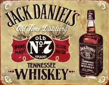 Jack Daniel Whiskey Vtg Metal Ad Sign Reproduction Bar Man Cave Picture Gift USA
