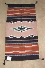 "Throw Rug Tapestry Southwest Western Hand Woven Wool 20x40"" Replica #363"