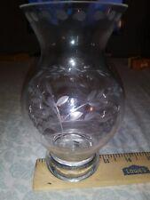 "Elegant 6"" Princess House Crystal Heritage Pattern Flower Vase Beautiful Glass"