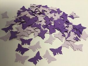 150 Lilac And Purple Butterfly Table Confetti