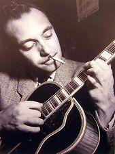 DJANGO REINHARDT clippings B&W photos Romani jazz guitar 1950s cigarette fusion