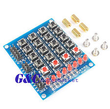 4x4 Keypad matrix keyboard buttons LED Marquee Independent keyboard  M119