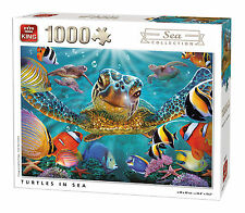 1000 Piece Sea Collection Jigsaw Puzzle - TURTLES IN SEA Tropical Fish 05617
