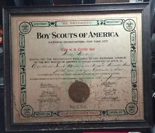 BOY SCOUT OF AMERICA WALTER WOOD 1914  SCOUT MASTER CERTIFICATE