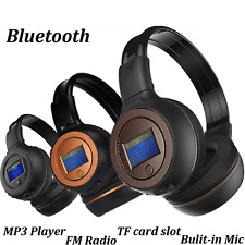 Bluetooth 3.0 Wireless Stereo Headset Kopfhörer Mit Call Microphone MIC MP3 FM