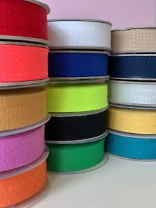 1M Heavy Basket Weave Cotton Webbing Belt Tape Strap Bag Making 30mm wide