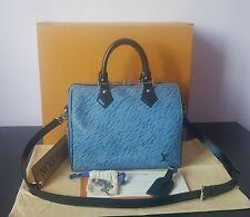 Auténtico Louis Vuitton Epi Denim Speedy 25 BANDOULIERE M51280 Bolso de mano