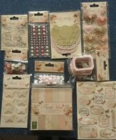 DOVECRAFT FLORAL MUSE COLLECTION SET - STAMPS PAPER PACK STICKERS BOWS & MORE