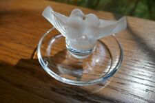 Lalique Crystal Lovebirds Ring Tray with Gift Box, Wrapping Paper & Tag Included