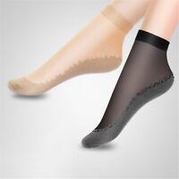 Women Fashion Ultra-thin Elastic Silk Short Silky Stockings Ankle Socks 4 Colors