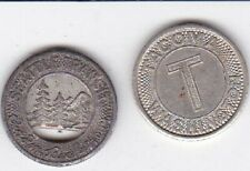 New listing 2 x Tokens Seattle & Tacoma Wa Token Good For One Fare Look
