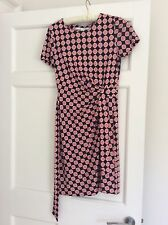 Genuine Classic DVF Col Rond Robe portefeuille, us 4/uk 8, soie,
