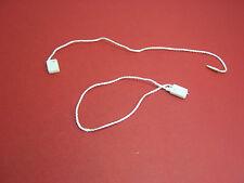 "7"" 500 Pc White Hang Tags Flat Nylon String Snap Lock Loop Pins Fastener Ties"