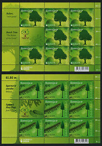 Slovenia 889-90 (MI897-8) Sheets  MNH EUROPA, Forests