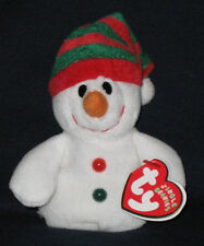TY CHILLER the SNOWMAN (WALGREEN'S EXCLUSIVE) JINGLE BEANIE BABY - MINT TAGS