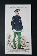 County of London Yeomanry (Sharpshooters)  Vintage 1930's Uniform Card # VGC