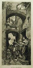 1877:L'AQUILA...SOUVENIR/RICORDO DELL'ABRUZZO.Xilo o in Passepartout.ETNA.