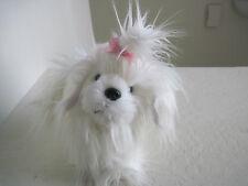 "9"" Battat WHITE PUPPY DOG Plush Stuffed Animal"
