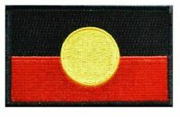 Australian Aboriginal, Indigenous Flag, Patch, Sew On, Stitch On, 8x5cm