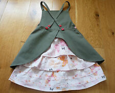 Immaculate Vertbaudet Beautiful Apron Dress with Frills 18 mths, Worn 2-3 Times!