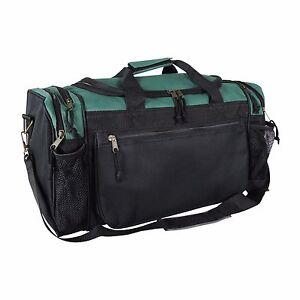 DALIX Brand New Duffle Bag Sports Duffel Bag in Green and Black Gym Bag