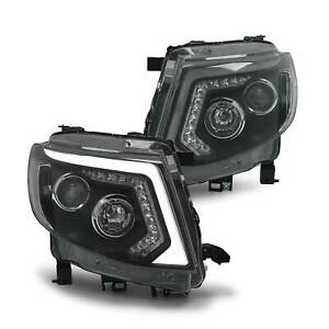 Headlights DRL Style with Sequential Indicator fits Ford Ranger PX MK1 - PAIR