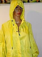 JoyLab Women's Zip-Up Windbreaker Poncho Jacket LimeAid Size Medium