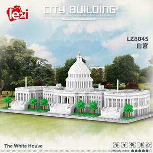 Lezi8045 World Architecture The White House Mini Diamond Blocks Building Toy