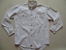 Levi's Jeans Hemd Jeanshemd Gr. M, weiß, Button-Down-Kragen, Western Denim RAR !
