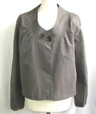 COTELAC - JACKET SLIGHT LONG SLEEVES COTTON BROWN GREY T 4 = 42/44 - LIKE NEW