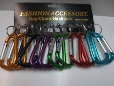 "Lot 12 Carabiner Spring Belt Clip Snap Key Chain / 3"" / Aluminum / Free Shipping"