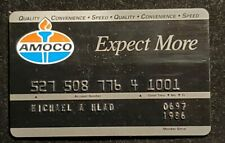 Amoco Expect More credit card exp 1986♡Free Shipping♡cc885
